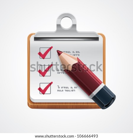 Vector options selection icon - stock vector
