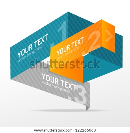 Vector origami speech templates for text - stock vector
