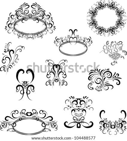 vector ornaments design - stock vector
