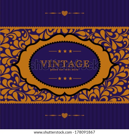 Vector ornate frame for invitation or announcement. Perfect as invitation or announcement.  - stock vector