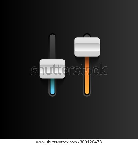 Vector ower sliders. Vector Toggle Switches  - stock vector