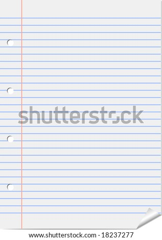 Vector page from notepad - stock vector