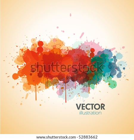 Vector paint background design - stock vector