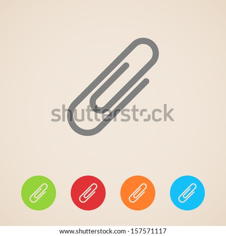vector paper clip icons - stock vector