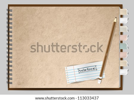Vector paper notebook design - stock vector