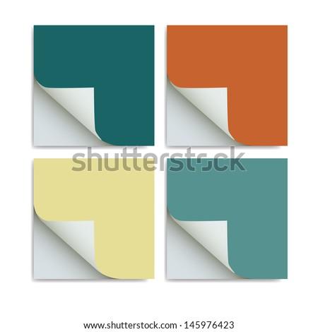 vector paper notes - stock vector