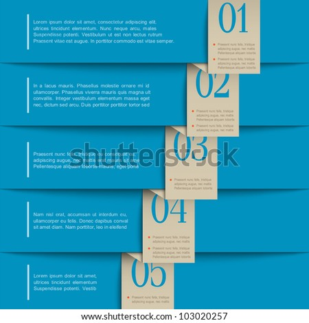 Vector paper numbered banners.Design template - stock vector