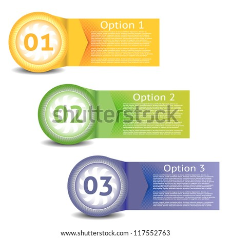 Vector Paper Progress Background / Product Choice or Version. eps 10 - stock vector