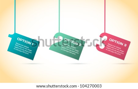 Vector Paper Progress background / product choice or versions. - stock vector