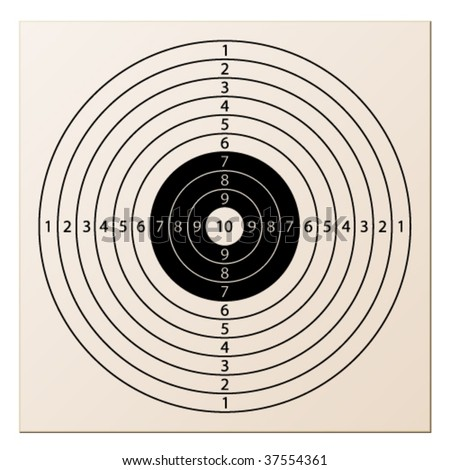vector paper rifle target - stock vector