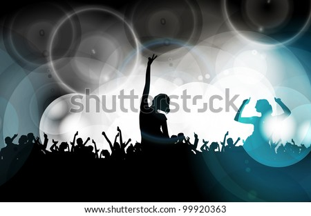 Vector party background - stock vector