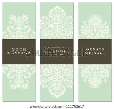 Vector Pastel Ornament Set. Easy to edit. Perfect for invitations or announcements. - stock vector