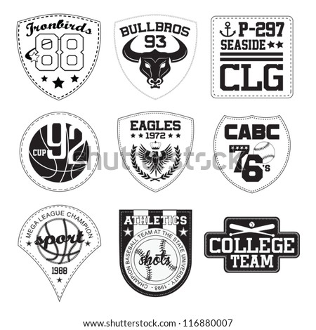 vector patch black and white - stock vector