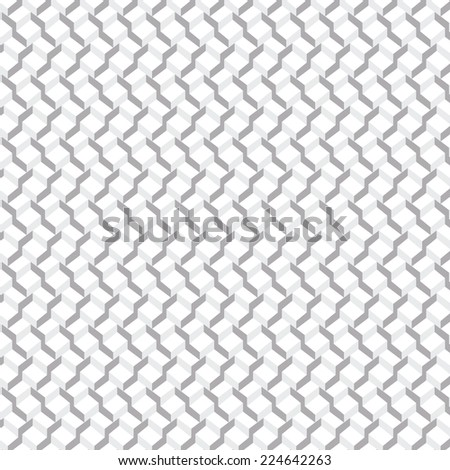 Vector pattern  background. 3-D wallpaper with repetition geometric shape. Gradient silver  cubes in perspective. Vector illustration clip-art web design elements  - stock vector