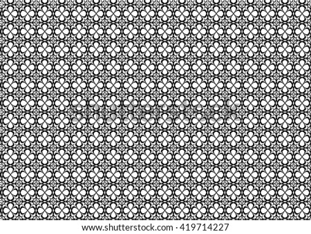 Vector pattern in black doodle style - stock vector