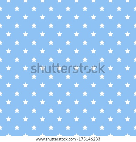 Vector pattern made with stars - stock vector