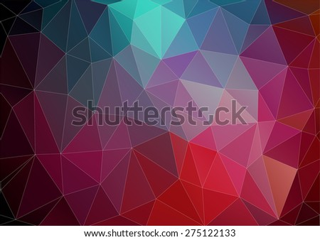 Vector pattern of geometric shapes. Colorful-mosaic-banner. Geometric retro.  - stock vector