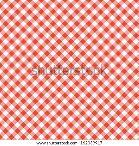 vector pattern of red picnic cooking tablecloth - stock vector