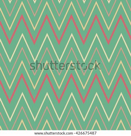 Vector  pattern of zigzag lines - stock vector