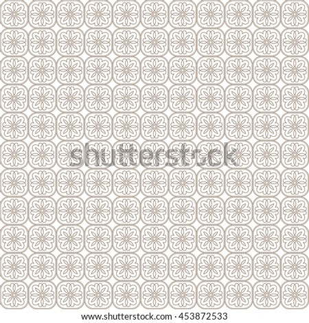 Vector pattern with art ornament. Elements for design . Ornamental lace tracery background Beige white. - stock vector