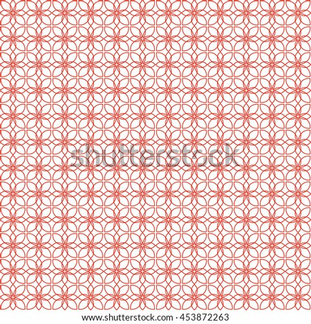 Vector pattern with art ornament. Elements for design . Ornamental lace tracery background .Red white. - stock vector