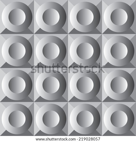Vector pattern with oval elements - stock vector
