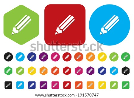 Vector Pencil Icon - stock vector