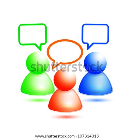Vector people message icons - stock vector