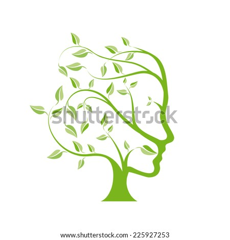 Vector person ecological, think green  - stock vector