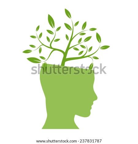 Vector person ecological, think green  - stock vector