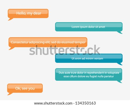 Vector phone chat bubbles - stock vector