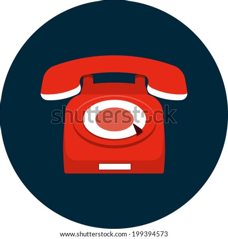 Vector Phone Flat Icon - stock vector