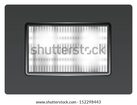 Vector photo flash light for app icons - stock vector