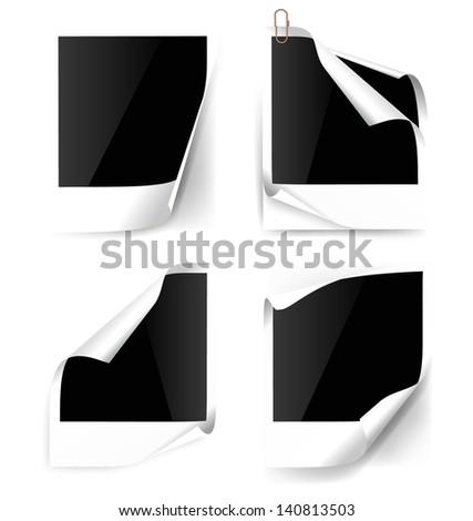 Vector photo frame. - stock vector