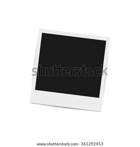 Vector photo frame. - stock vector