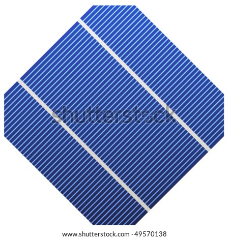 vector photovoltaic cell - stock vector