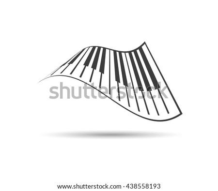 Vector piano icons, logo classic, vector eps illustration - stock vector