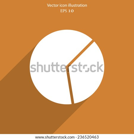 Vector pie chart web flat icon. Eps 10 illustration. - stock vector