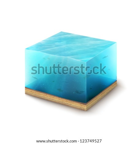 vector piece of Earth - stock vector