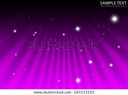 Vector pink star burst abstract glittering background illustration - Abstract sparks over pink spreading rays vector illustration - stock vector