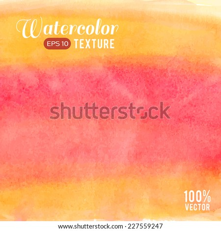 Vector pink yellow stripes watercolor texture. Grunge template for your design. Composition for scrapbooking. - stock vector
