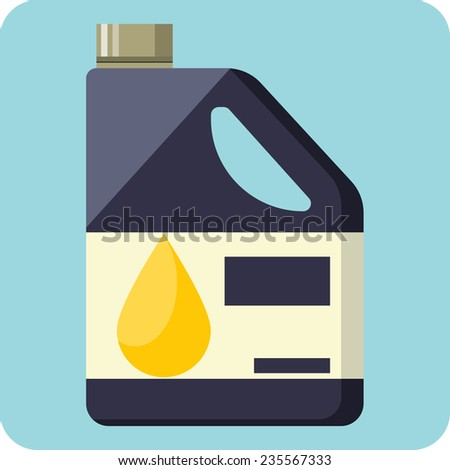Vector Plastic Canister of Motor Oil - stock vector