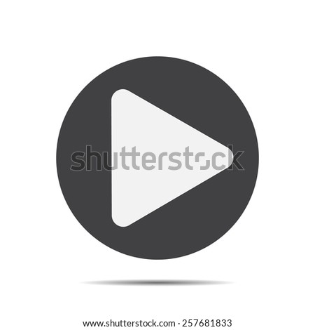 vector play icon. black symbol on a white background - stock vector