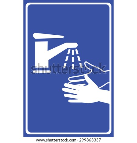 Vector please wash your hands sign, Illustration EPS10   - stock vector
