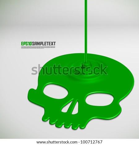 Vector Poisonous Liquid Dripping - stock vector