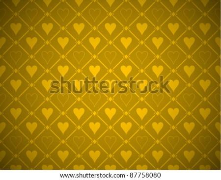 Vector Poker Gold Background - stock vector