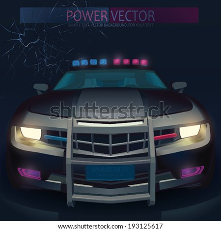 Vector Police car - stock vector