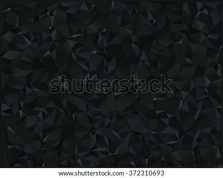 vector polygonal abstract black background - stock vector