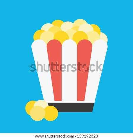Vector Popcorn Icon - stock vector