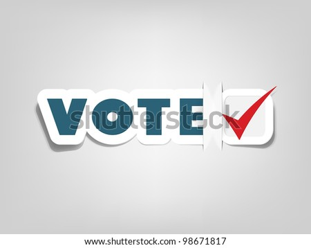 vector poster with sign vote - stock vector